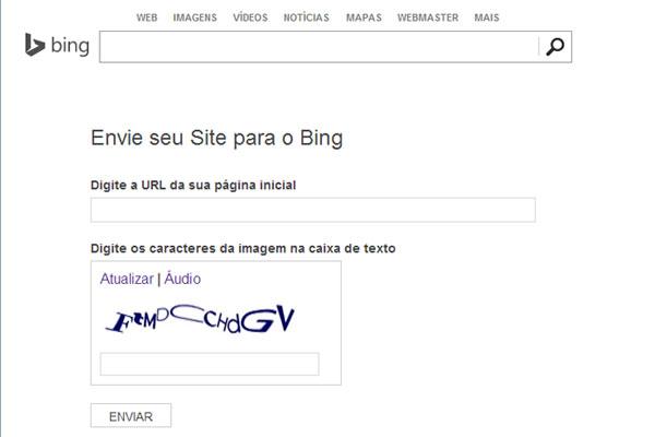 Adicionar URL no Bing