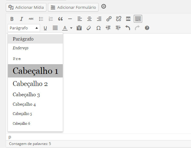 Editor do WordPress