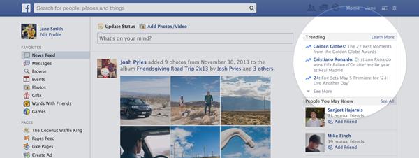 Facebook Tendências