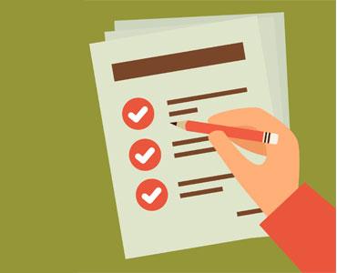 marcando lista de tarefas