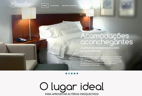 Modelo de site para hotel ou pousada