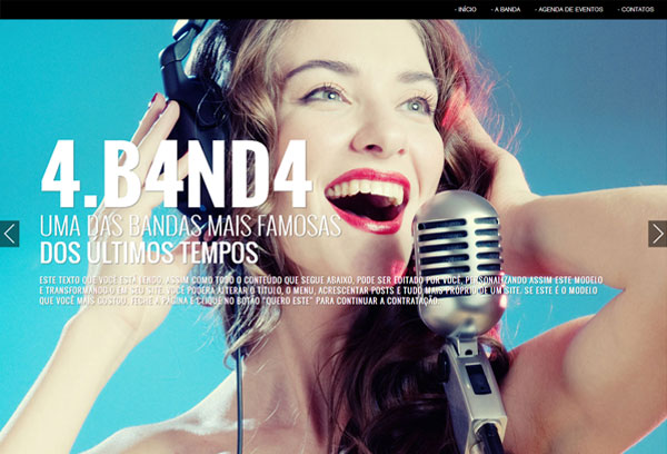 tema banda wordpress