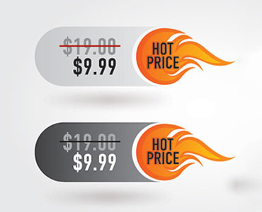etiquetas de preço terminado em 9