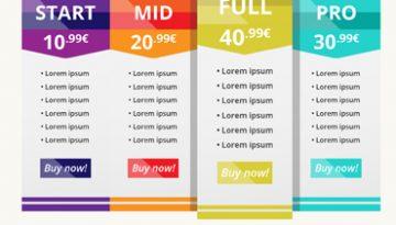exemplo de tabela de preços